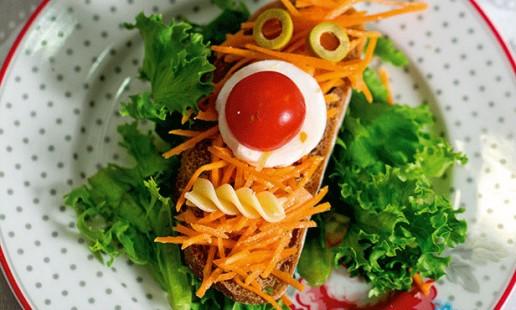 Bruschettas de cenoura