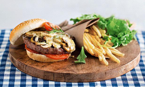 Hambúrguer com queijo da Ilha