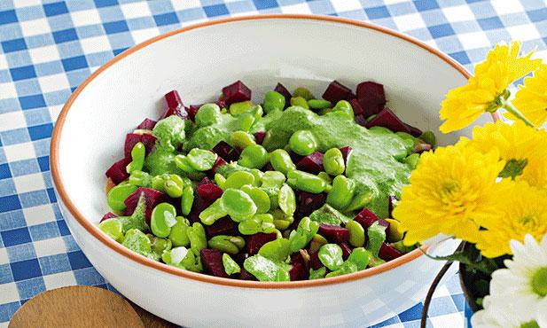 Salada de favas