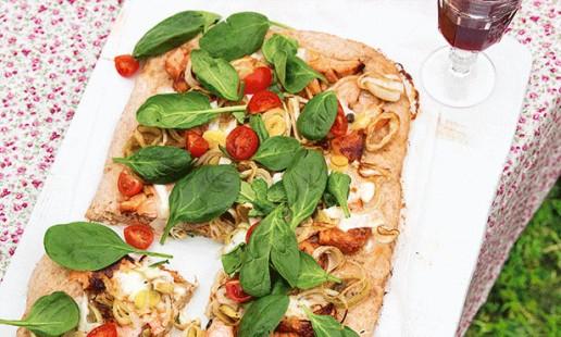 Pizza de salmão