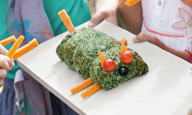 Rolo de legumes