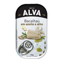 Bacalhau Alva Azeite E Alho 120 Gr