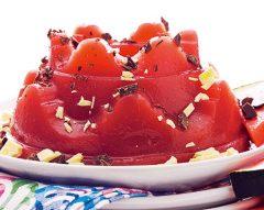 Pudim gelado de melancia