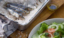 Sardinhas assadas ao sal