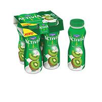 Iogurte Líquido Activia|Pack 4X160G Kiwi