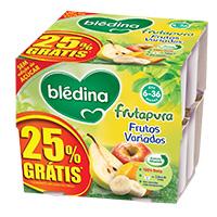 Puré de Fruta Blédina Fruta Variados 8X100G 25%