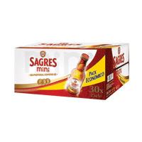 Cerveja C/Álcool Sagres Mini Pack 30X25Cl