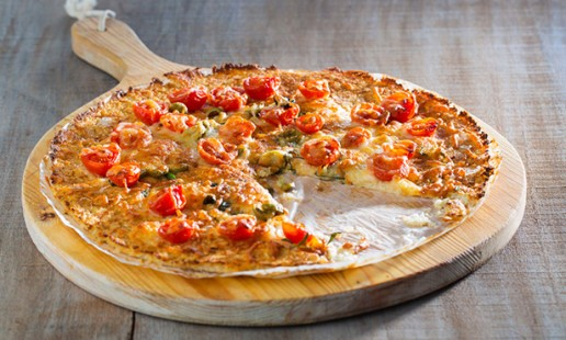 Base de pizza de couve-flor em 5 passos