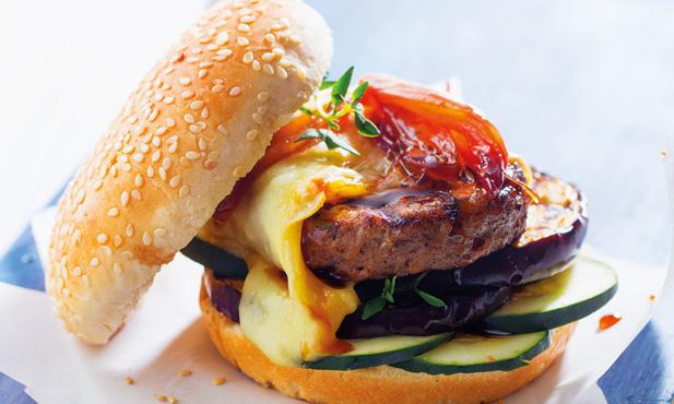 Hambúrguer de Angus com queijo da Serra
