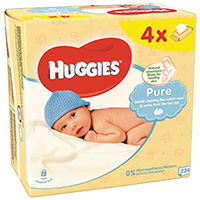Toalhitas Huggie Pure Pack 4X56 Unidades