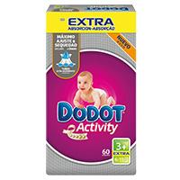 Fraldas Dodot Activity Extra T3 4-10 Kg 60 Doses