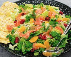 Salada de salmão fumado e agrião
