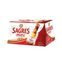 Sagres Mini C/Álcool Pack 15X20Cl