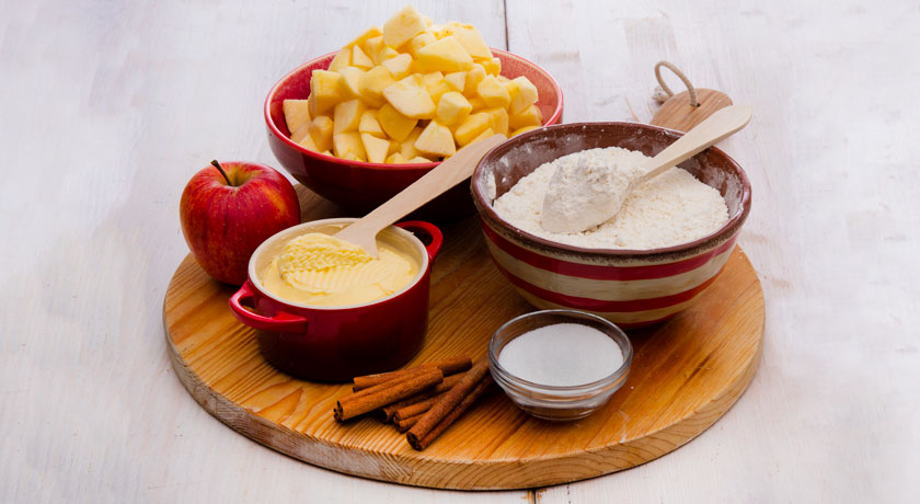 Como fazer crumble de maçã