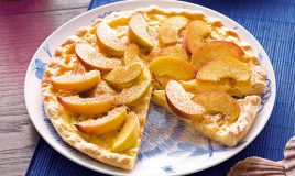 Tarte de pêssego com limão