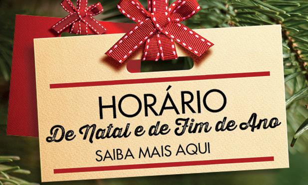 Horário de Loja para Natal e Ano Novo