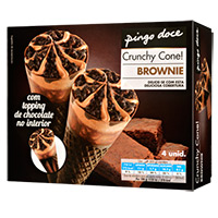 Gelado Cones Pingo Doce Brownie 4X110Ml