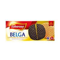 Bolacha Belga Cober Chocolate Saborosa