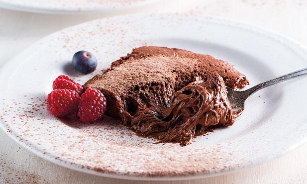Mousse cremosa de chocolate