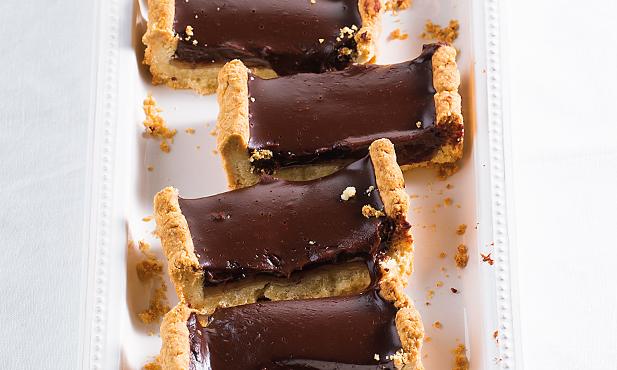 Tarte de chocolate e caramelo