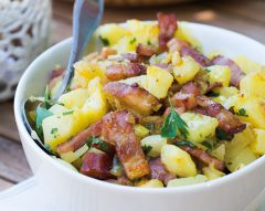 Batata salteada com bacon