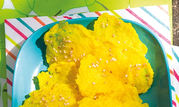 Chips de arroz