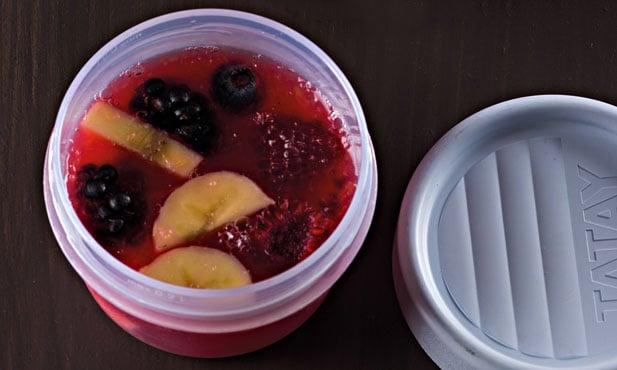 Fruta em gelatina