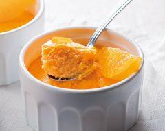 Pudim de requeijão e abóbora com laranja