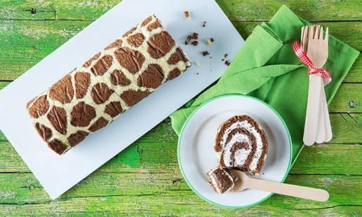 Como fazer uma torta-girafa, fácil e divertida