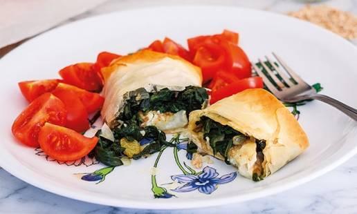 5ª feira: travesseiros de espinafres e queijo