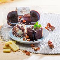 Petit Gâteau Recheio Avelã E Chocolate Branco