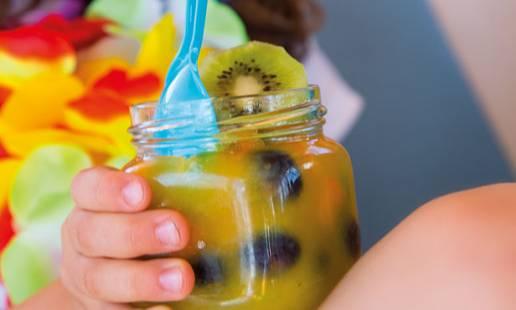 4ª feira: gelatina tutti-frutti
