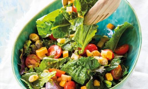 Salada de baby kale