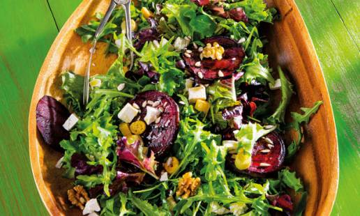 Salada de beterraba grelhada
