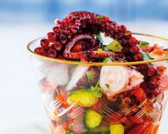 Salada de polvo com piripíri