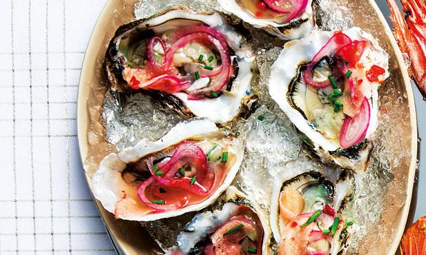 Ceviche de ostras