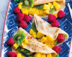 Crepes de tapioca com fruta