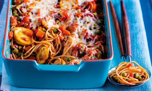 Esparguete integral gratinado