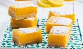 Quadrados cremosos de limão