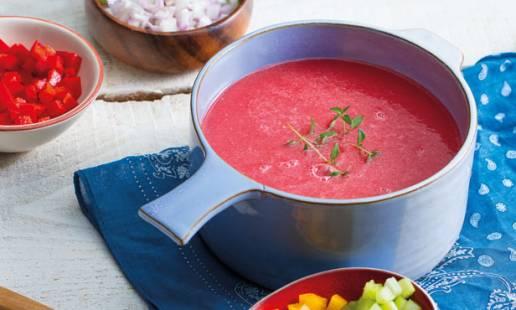 Sopa fria de melancia