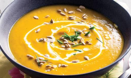 3ª feira: sopa de cenoura