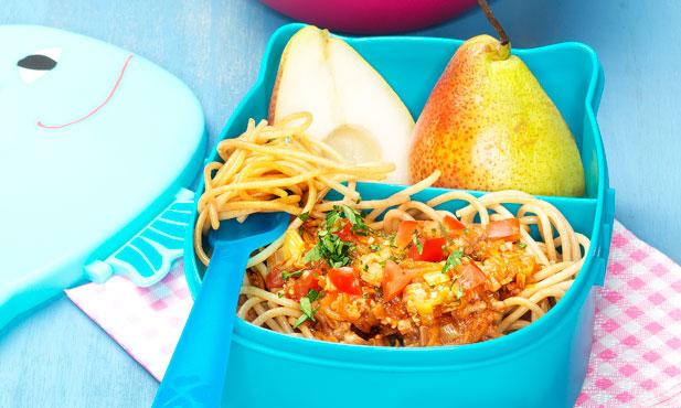 Esparguete integral à bolonhesa