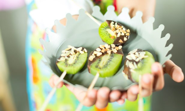 Lollipops de kiwi
