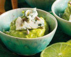 Mousse de abacate com Roquefort