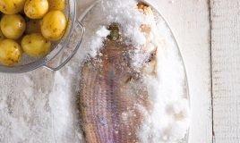 Pargo ao sal com molho agri-doce