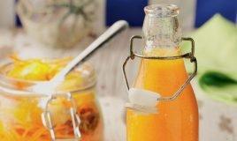 Sumo de cenoura, laranja e gengibre