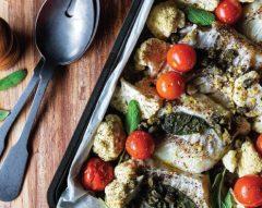 Bacalhau fresco com alcaparras