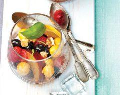 Fruta de Verão com croutons