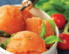 Gelado de tomate e manjericão