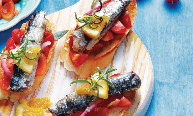 Sardinhas com molho aromático